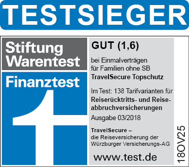 Reiserücktrittsversicherung Testsieger Reiseversicherung